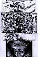 SanEspina Inhumans page1 ink by santiagocomics