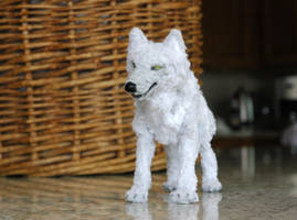 Pipecleaner wolf by afiriti