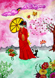 Geisha in her Inner Mongolia by Inchukalns
