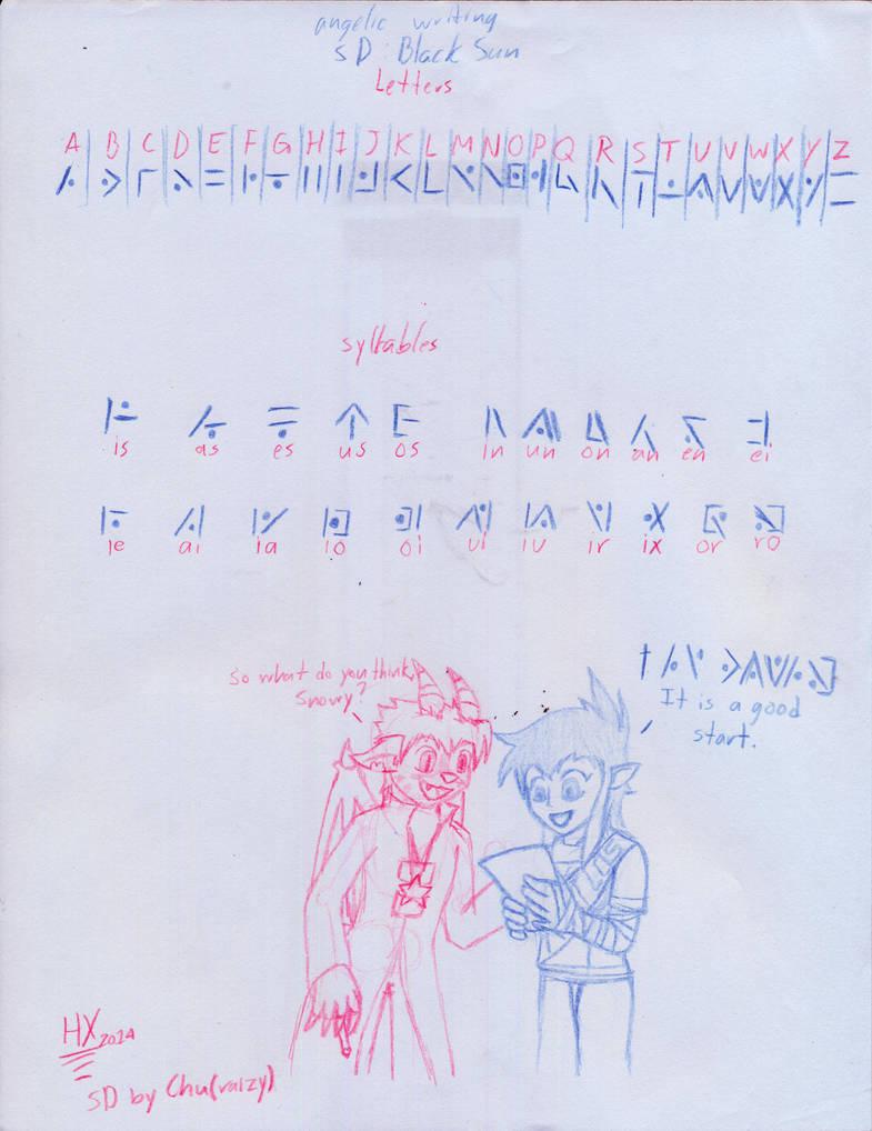 Angelic Writing Alphabet Photos Alphabet Collections