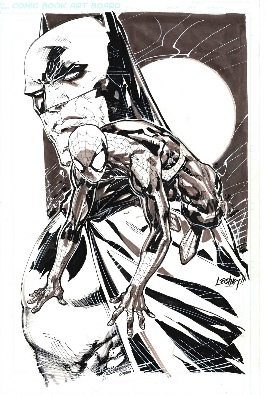 bats and spidey by ledkilla