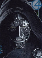 Dr Doom - Sketch Card by J-Redd