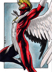 Angel - X-Men Sketch Card by J-Redd
