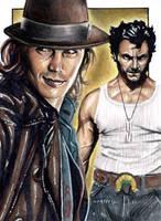 Gambit and Logan - Sketch Card by J-Redd