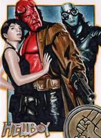 Hellboy - Premier Sketch Card by J-Redd