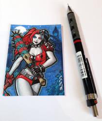 Harley Quinn Sketch Card by J-Redd
