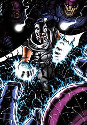 Magneto vs Sentinels by J-Redd