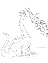Dragon +1.00+ Lineart by ohaku-sama