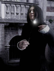 The obligatory evening strolll. Severus Snape by Tal-Conhae
