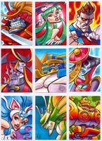Darkstalkers Sketchcards part 1 by Chad73