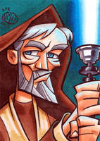 Old Obi-Wan Kenobi Sketchcard by Chad73