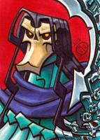 Death Darksiders Sketch Card by Chad73