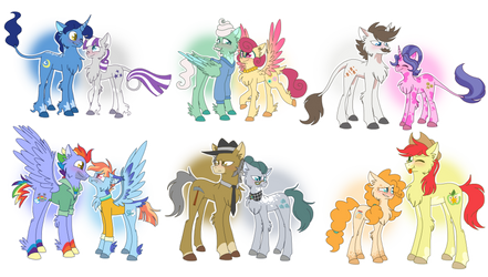 MLP Headcanons- Mane 6 Parents by lolwise