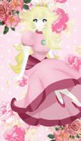 Pretty Princess Peach REDRAW by Calcium-Miku
