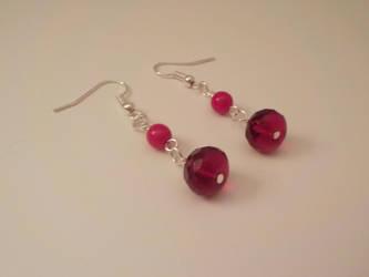 Red Dangle Earrings by FROdominatrix