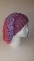 Handmade crochet slouchy beanie by FROdominatrix