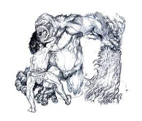 Gorilla Sumo by JohnsDead
