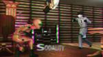Battle at the Bar 3D Green-Magenta by BulldozerIvan