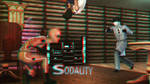 Battle at the Bar 3D Red-Cyan by BulldozerIvan