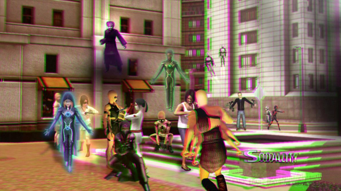 Sodality Season 4 Wallpaper 3D Green-Magenta by BulldozerIvan
