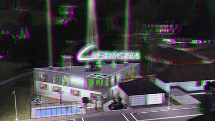 Gerosha Ad Card 3D Green-Magenta by BulldozerIvan
