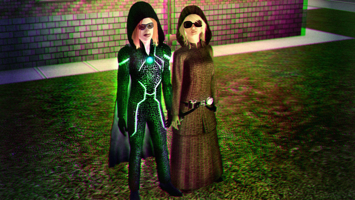 Sapphire Gang 3D Green-Magenta by BulldozerIvan