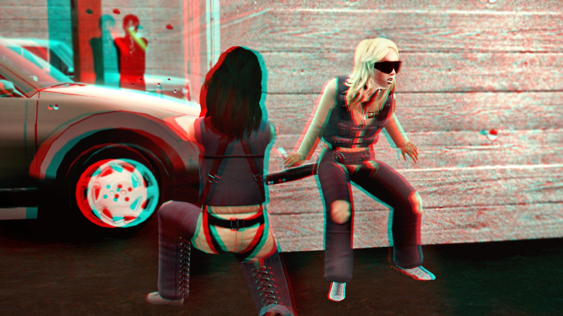 Showdown Against the Hebbleskins 3D Red-Cyan by BulldozerIvan
