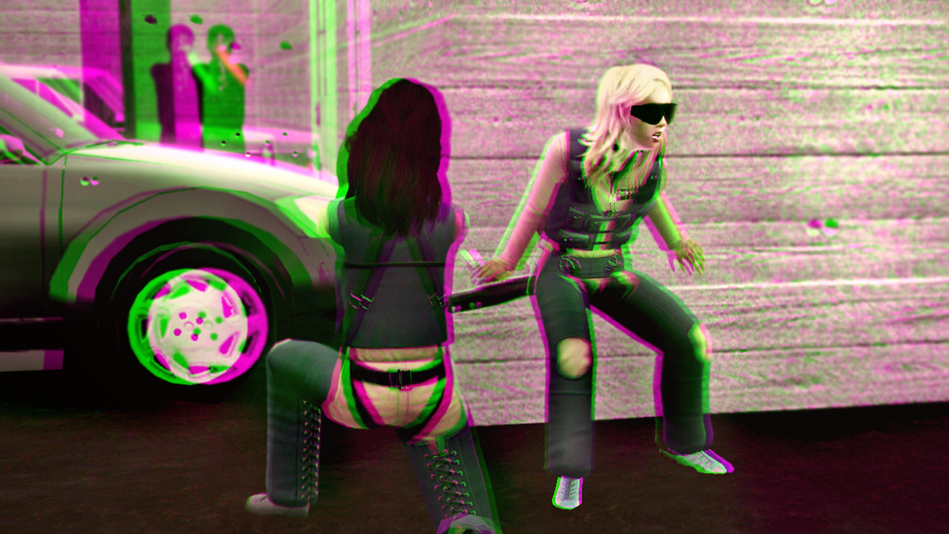 Showdown Against the Hebbleskins 3D Green-Magenta by BulldozerIvan