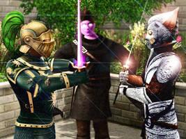 Knight vs. Samurai by BulldozerIvan