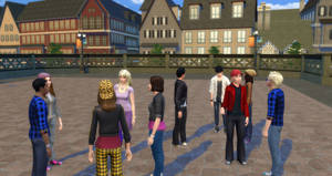 Sims 4 test - Rangers everywhere by BulldozerIvan