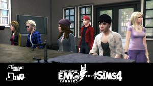Emo Rangers for The Sims 4 download (coming soon) by BulldozerIvan