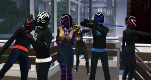 Test - Emo Rangers in The Sims 4 by BulldozerIvan