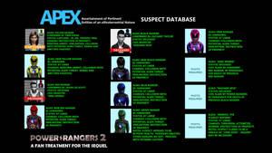 Power Rangers 2 FanTreatment-Apex Suspect Database by BulldozerIvan