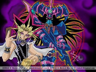 Yugi and Magician of B. Chaos by Riomak