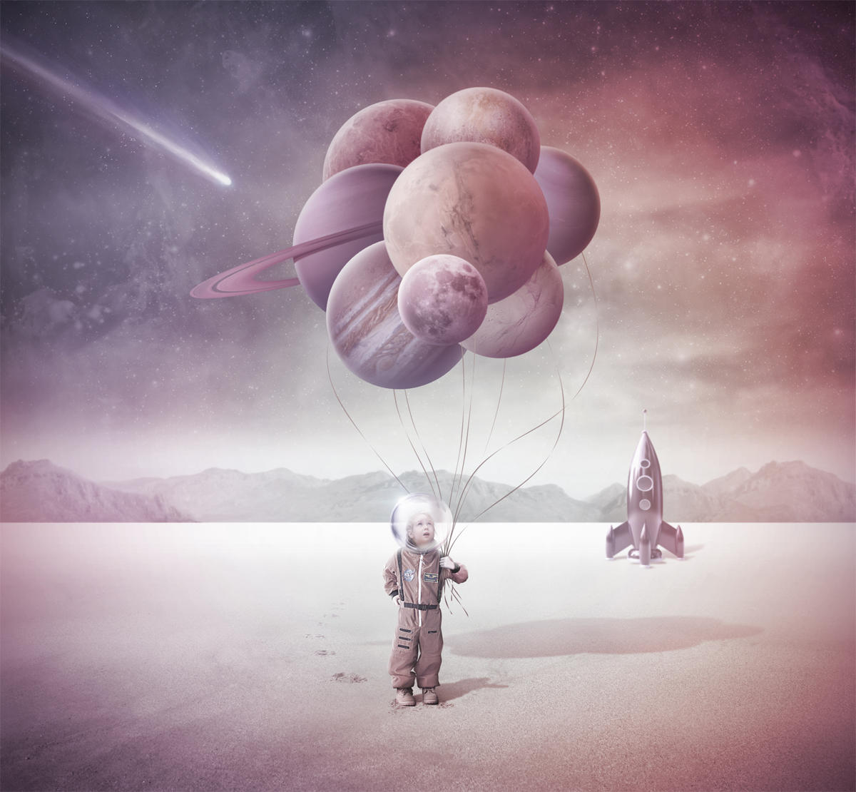 Never Grow Up 1 / Spacegirl, Planets Hunter by LAMBDA256