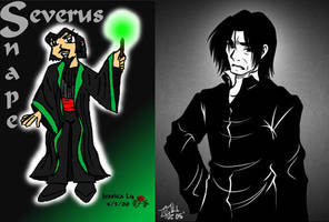 Snape - Before and After by hellslilangel