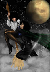 Flying Lessons 101 with Snape by hellslilangel