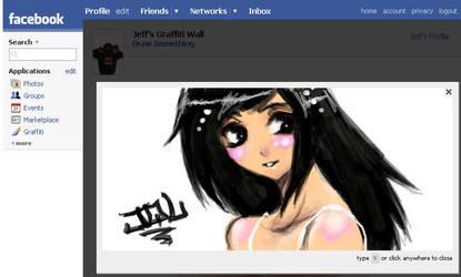 Facebook Graffiti Girl by hellslilangel