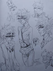 Iggy doodle page by Alfies-an-Artist