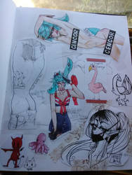 A page Filled With Doodles by Alfies-an-Artist