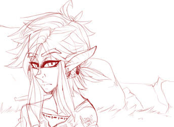 Link: Breath of the Wild (WIP) by Alfies-an-Artist
