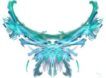 Aqua Butterfly by milkywaysora