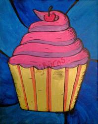 Pink Love Cupcake by AJBurnsArt