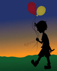 Balloon Boy by AJBurnsArt