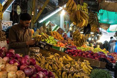 Fruit Market - Downtown, Amman, Jordan by Rabya-Fraij