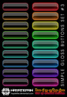 Simple Gloss Buttons Set No. 3 by jhasson