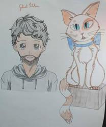 Gabriel Tilkian e seu gato de estimao Vitinho by nina12315
