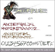 Angryblue Font Set by angryblue