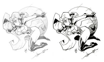 Powergirl By Stevensanchez- Beforeafter by thakayne