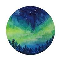 Aurora watercolour by gracianov